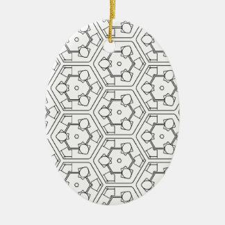 B'n'W3 Ceramic Oval Decoration