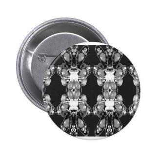 BNW B&W Black white Imitation Jewel GIFTS HAPPY 99 6 Cm Round Badge