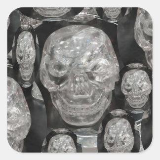 BNW Skull Master Scull Guru Square Sticker