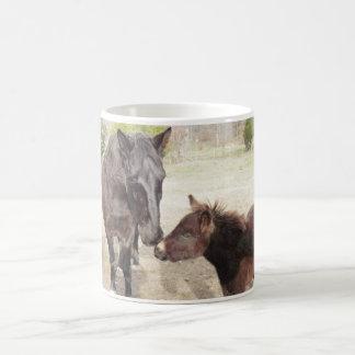 """Bo and Brenna"" Horse and Mule on Classic Mug"