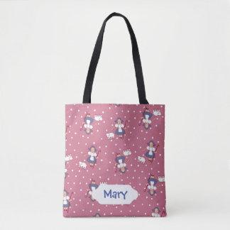 Bo Peep/Mary had little lamb design Tote Bag