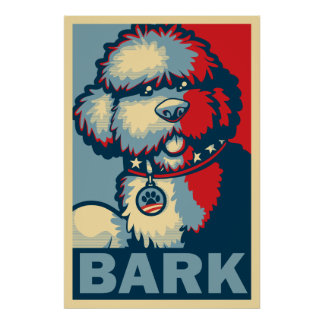 "Bo The Dog, Funny ""Obama HOPE"" Poster"