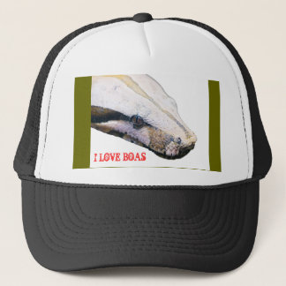boa, I LOVE BOAS Trucker Hat