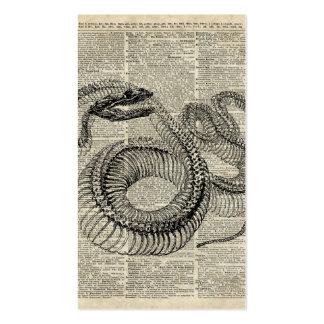 Boa Snake Skeleton Vintage Dictionary Page Art Pack Of Standard Business Cards