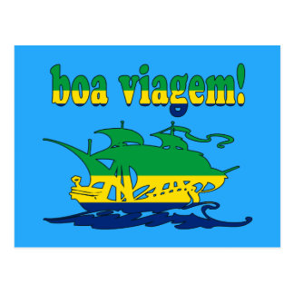 Boa Viagem - Good Trip in Brazilian - Vacations Postcard