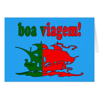 Boa Viagem - Good Trip in Portuguese - Vacations Greeting Card