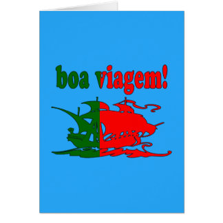 Boa Viagem - Good Trip in Portuguese - Vacations Note Card