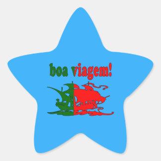Boa Viagem - Good Trip in Portuguese - Vacations Star Sticker