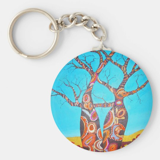 Boab Happiness Basic Round Button Key Ring