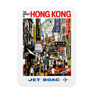 BOAC - Hong Kong Rectangular Photo Magnet