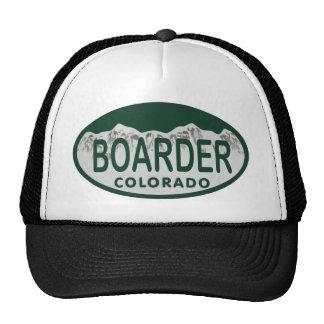 boader license oval cap