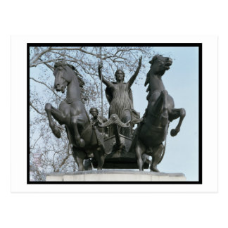 Boadicea, 1850s (bronze) (see also 33580) postcard