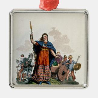 Boadicea, Queen of the Iceni Silver-Colored Square Decoration