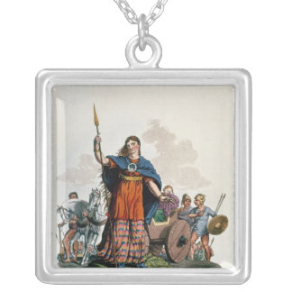 Boadicea, Queen of the Iceni Silver Plated Necklace