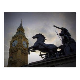 Boadicea Statue - Elizabeth Tower - Postcard