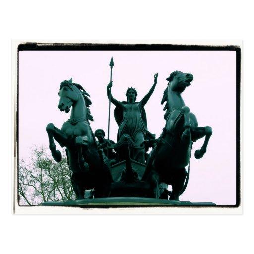 Boadicea Statue - Westminster Bridge - London Card Post Cards