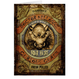 Boar Hairs Greeting Card