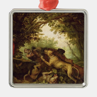 Boar Hunt, 1611 Christmas Ornament