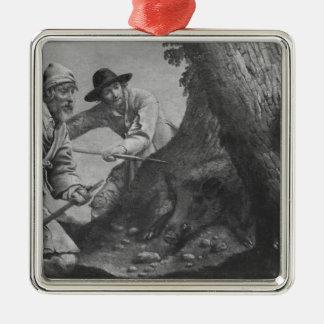 Boar hunt christmas ornament