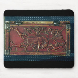 Boar Hunt, plaque from a Byzantine casket, 11th ce Mouse Pad