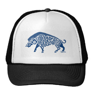 Boar Knotwork Blue Cap