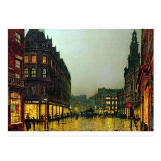 Boar Lane, Leeds by John Atkinson Grimshaw Postcard
