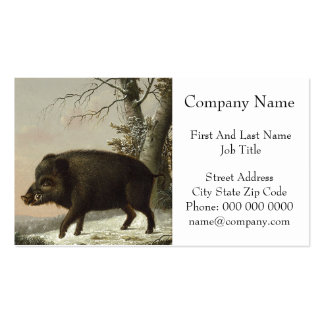 Boar Pig Vintage German Painting Business Card Templates