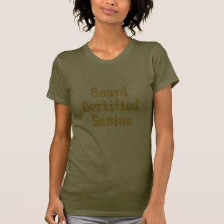 Board Certified Genius Orange Text... - Customized T-Shirt