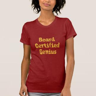 Board Certified Genius Orange Text - Customized Tshirts