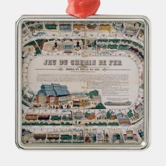 Board for a railway game, 1850 christmas ornament