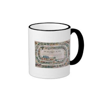 Board for a railway game, 1850 coffee mug