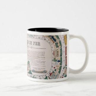 Board for a railway game, 1850 coffee mugs