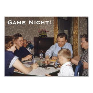 Board Game Night 13 Cm X 18 Cm Invitation Card