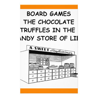 board games personalized stationery