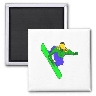 Board Grab Square Magnet