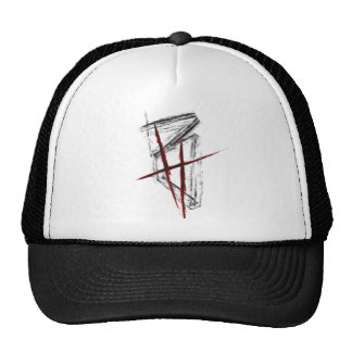 Board hit Trucker Cap new logo (Black/talk) Hat