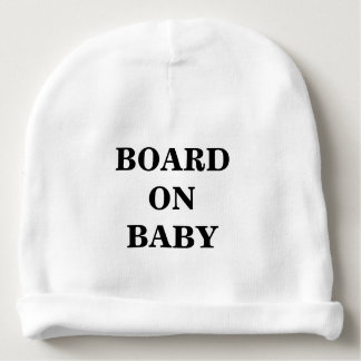 BOARD ON BABY CUSTOM COTTON BABY BEANIE