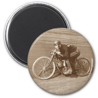 Board Track Motorcycle Racer #2 6 Cm Round Magnet