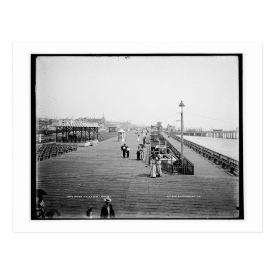 Board Walk, Asbury Park, New Jersey Vintage Postcard
