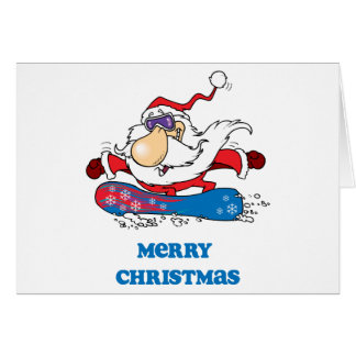 BoardChick Santa Merry Christmas Card