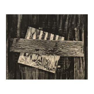 Boarded Up Old Wooden House Window Wood Wall Decor