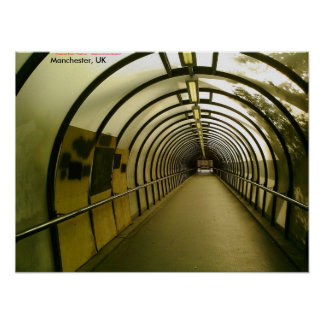 Boarded-up Pedestrian Tunnel Manchester UK Print