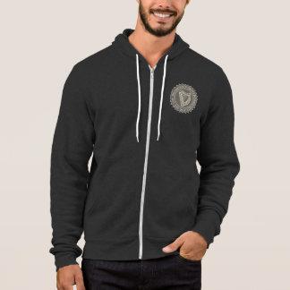 Boarderco stamp logo zipped hoodie