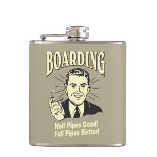 Boarding:Half Pipe's Good Full Better Hip Flask