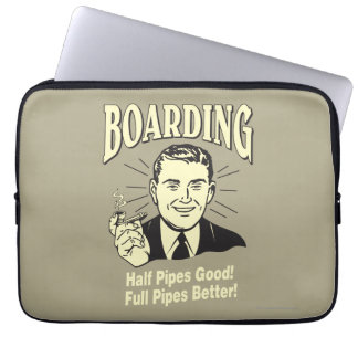 Boarding:Half Pipe's Good Full Better Computer Sleeve