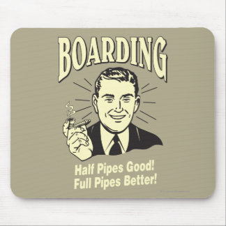 Boarding:Half Pipe's Good Full Better Mouse Mat