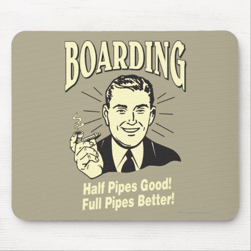 Boarding:Half Pipe's Good Full Better Mousepad