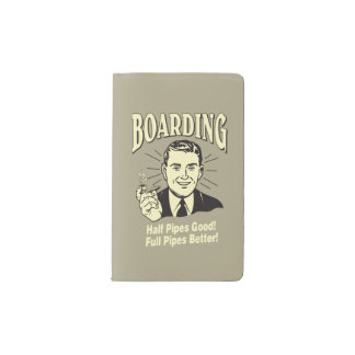 Boarding:Half Pipe's Good Full Better Pocket Moleskine Notebook