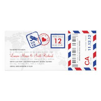 Boarding Pass Airmail Ticket Invitation