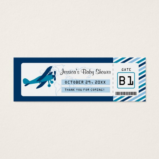 Boarding Pass Baby Shower Favour Tag Mini Business